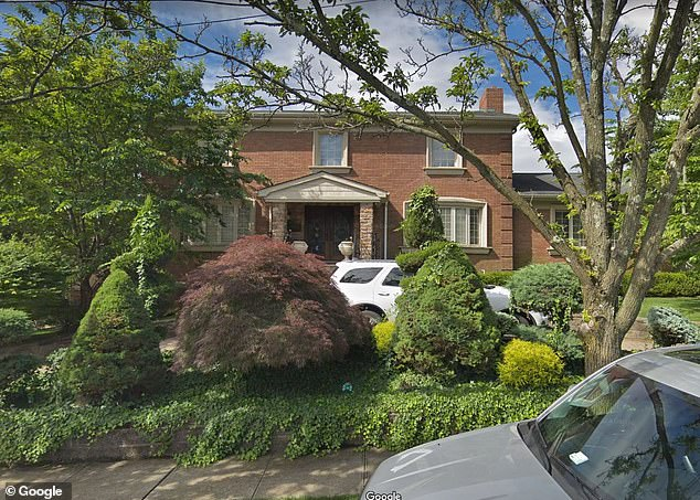 Cali's family home in Staten Island, New York, is seen above