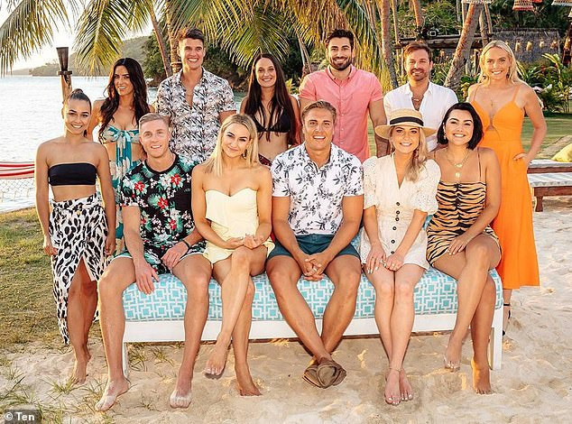 Sunny skies: The cast features a bevy of stars from Nick Cummins' now-infamous season of The Bachelor