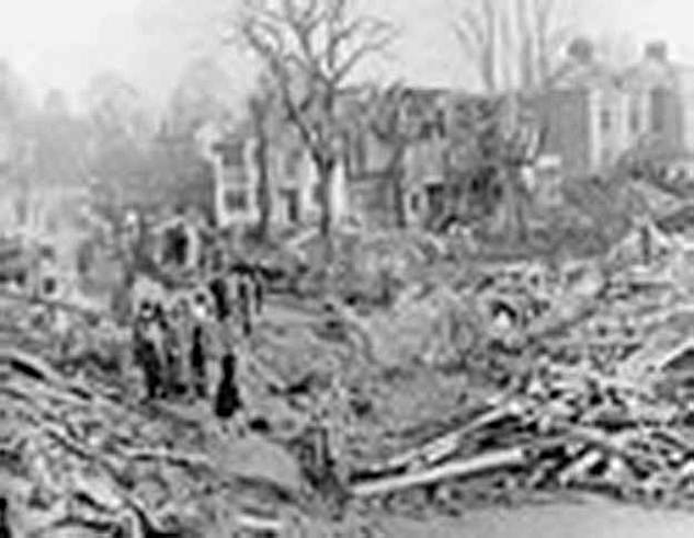 Barnet was heavily bombed during the war, but the house where Mrs Whale lived survived