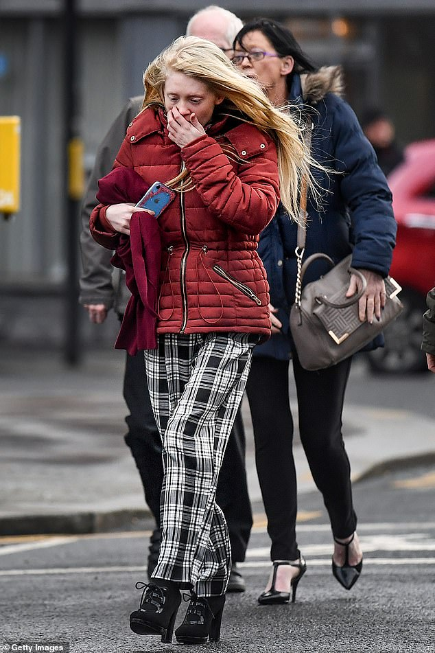 Alesha's mother (pictured outside Glasgow's High Court on February 12), said she wants answers from Campbell