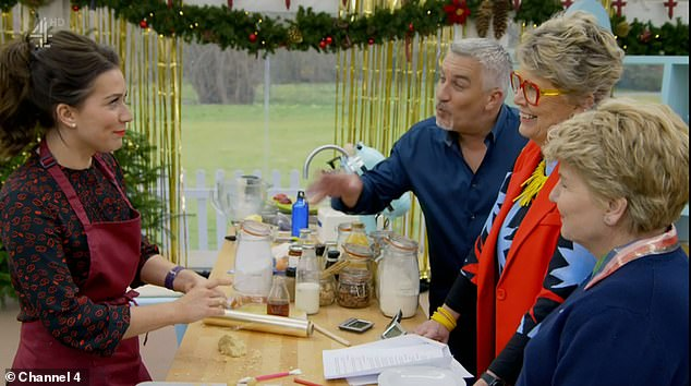 Pals: In November 2017, Paul was pictured kissing the winner of the seventh season of Bake Off, Candice Brown with both saying it was an 'innocent kiss'