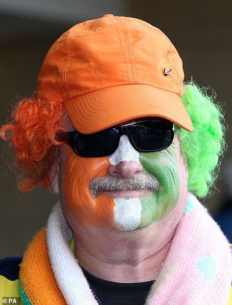Another painted his face in colours of the Irish flag