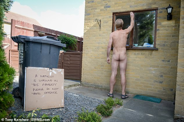 While working as a carpenter Jenner put up a sign saying 'A naturist is working on this property please do not take offence'