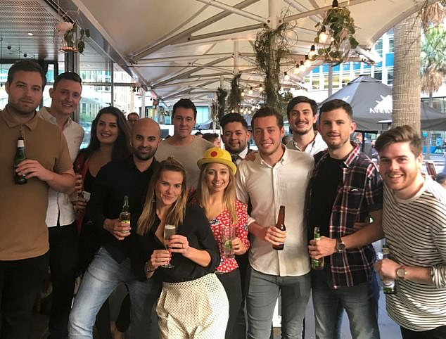 Amy out with work colleagues - she believes the line between work/ life balance is blurred if you love what you do