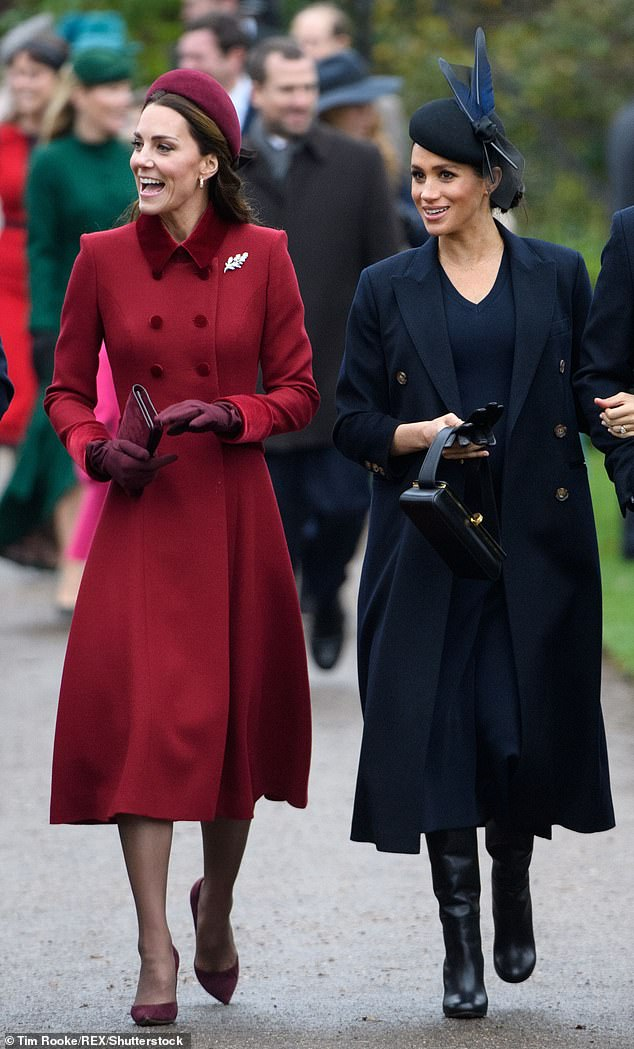 Meghan had a very Beckham Christmas and wore the designer's boots, coat and dress during the Christmas day service at St Mary Magdalene Church in December 2018 with her in-laws
