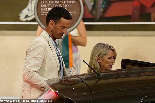 What a gentleman! Mick let Jennifer,47, in the Uber first and even held the door open for her