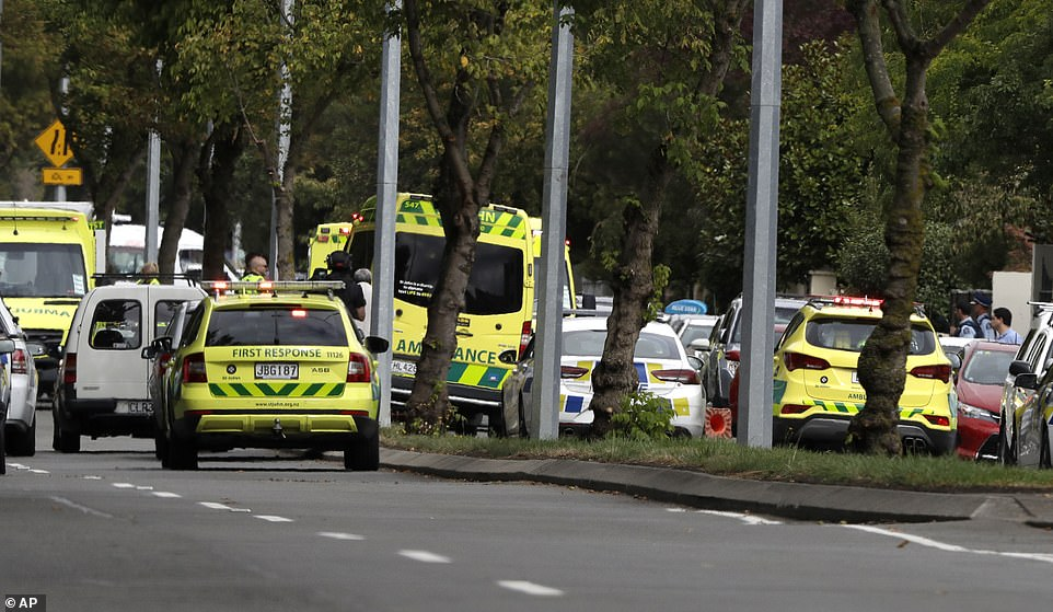 Prime Minister Jacinda Ardern earlier said at least 20 other people had been seriously injured, and described it as 'one of New Zealand's darkest days', adding: 'What has happened here is an extraordinary and unprecedented act of violence'