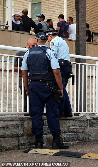 A heightened police presence was seen at Lakemba Mosque in Sydney's south-west on Friday evening