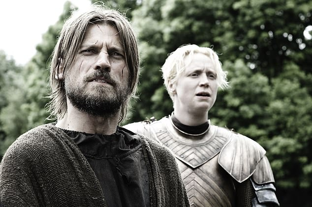Invested: Fans are also hugely interested in Jaime's unlikely friendship with Brienne of Tarth after they bonded when she escorted him back to his family in handcuffs