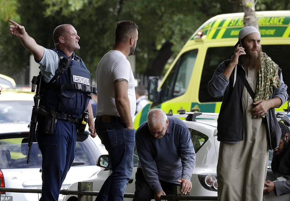 Witness Ahmad Al-Mahmoud described one of the shooters as being white, with blond hair and wearing a helmet and bulletproof vest