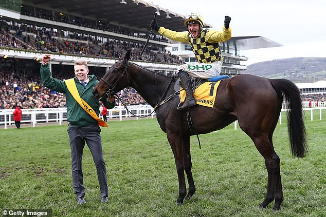 Favorite Clan Des Obeaux finished fifth as Al Boum Photo (pictured) claimed the first prize