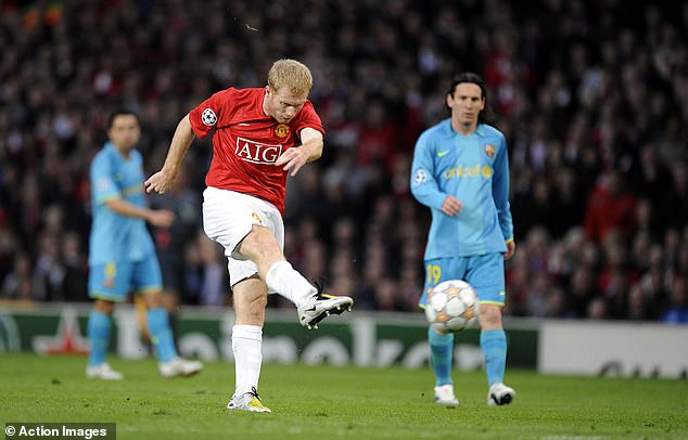 Paul Scholes scored the winner when the two teams met in the semi-finals of the 2008 tournament