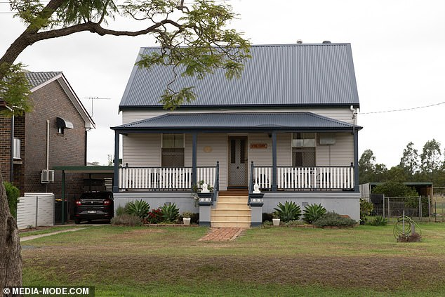 Details of the alleged terrorist's background are emerging, including his upbringing in the rural New South Wales town of Grafton (pictured, house in Grafton) which he left shortly after his father Rodney died of cancer when Tarrant was in his early 20s