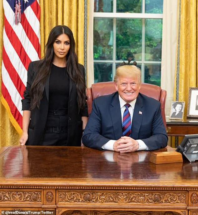 2018: Charles was released from prison in January this year thanks to the First Step Act, criminal justice reform legislation which Kim herself helped convince President Donald Trump to enact