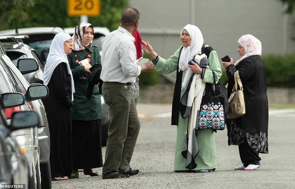The gunman behind at least one of the mosque shootings in New Zealand that left 49 people dead on Friday tried to make a few things clear in the manifesto he left behind: He is a 28-year-old Australian white nationalist who hates immigrants. He was set off by attacks in Europe that were perpetrated by Muslims. He wanted revenge, and he wanted to create fear. Members of a family react outside the mosque following the shooting in Christchurch
