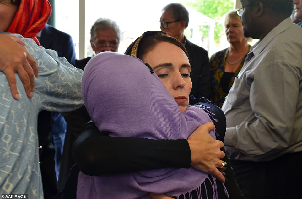 Jacinda Arden (pictured) met with members of the Muslim community following the horrific attack on Friday