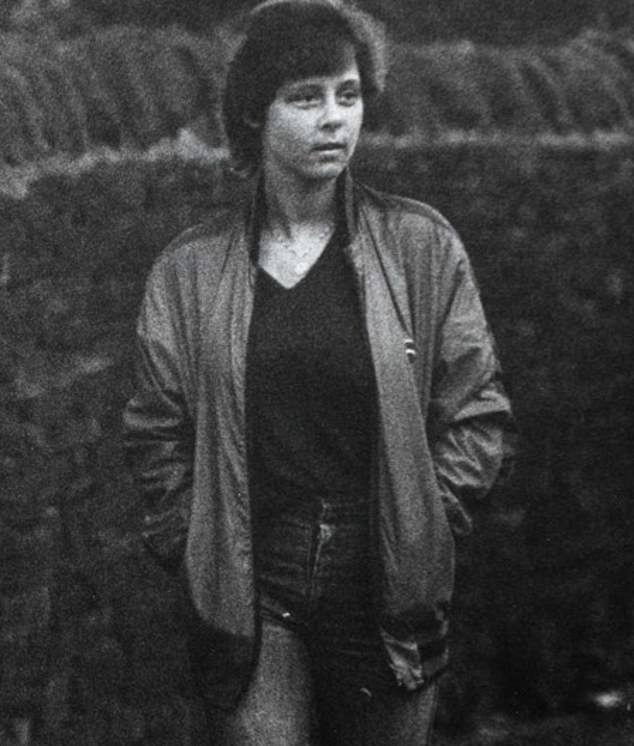 Tracy, pictured after the attack, said that while she was being beaten the sounds Sutcliffe made reminded her of Jimmy Connors playing tennis