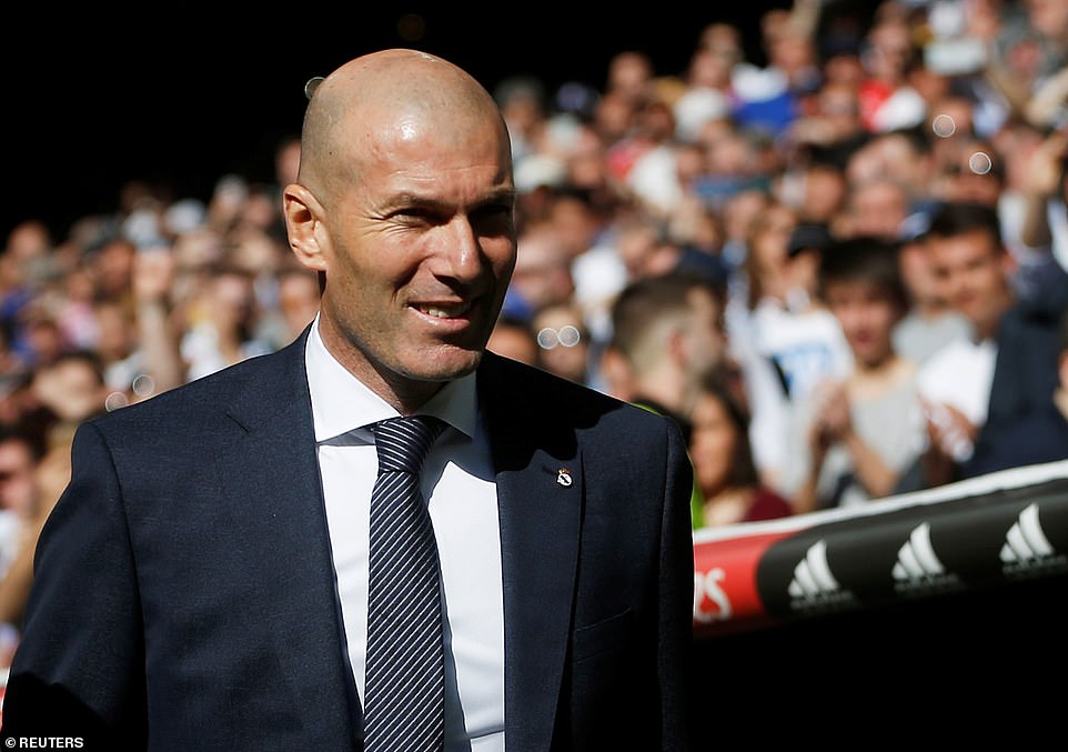 Manager Zidane took charge of his first game on Saturday since returning to the Real Madrid hotseat earlier this week