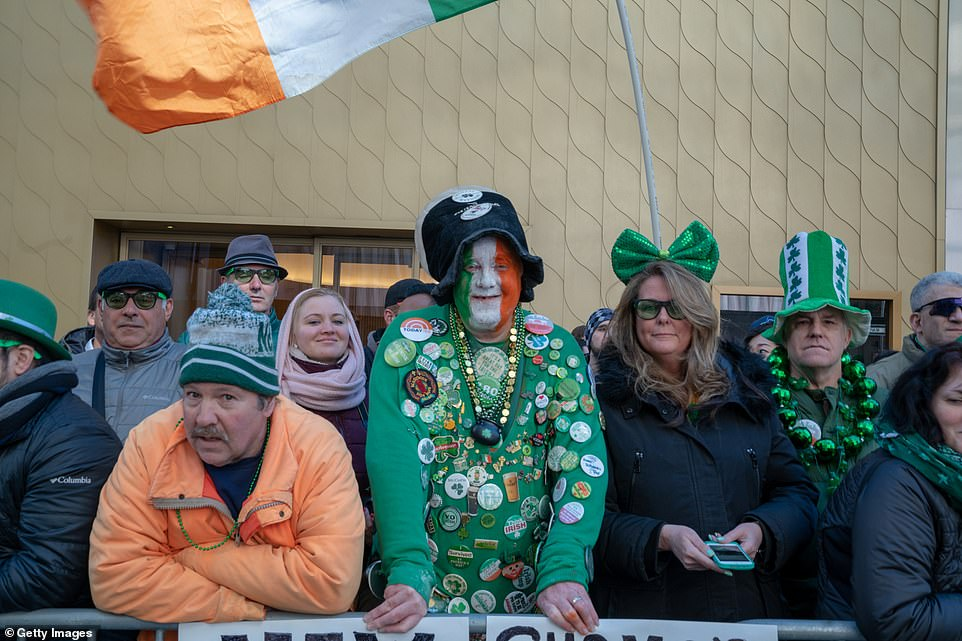 Painted green, white and orange: Thousands gathered for the 2019 annual St. Patrick's Day parade on Saturday in New York