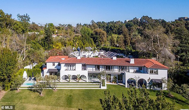 The family is now holing up in their extravagant Bel Air mansion (above) following the scandal that broke on Tuesday