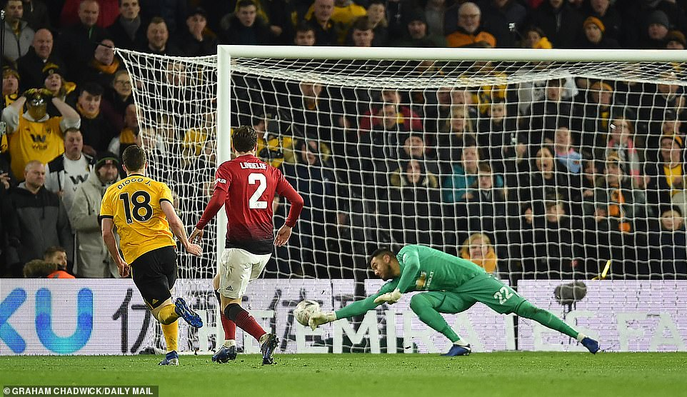 Diogo Jota doubled Wolves' lead six minutes after they went ahead with a fine individual effort on the counter attack