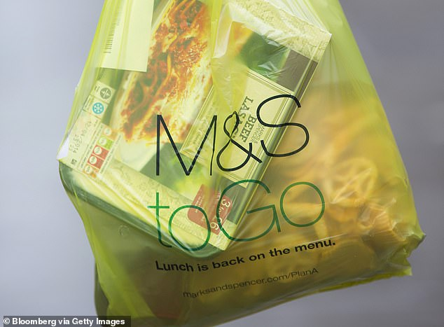 The details of the plan came to light in a letter sent by M & S to hundreds of its food suppliers last week. Following is the recent announcement of a tie-up that will see M & S replace Waitrose as the main supplier of the Ocado grocery delivery company next year [File photo]