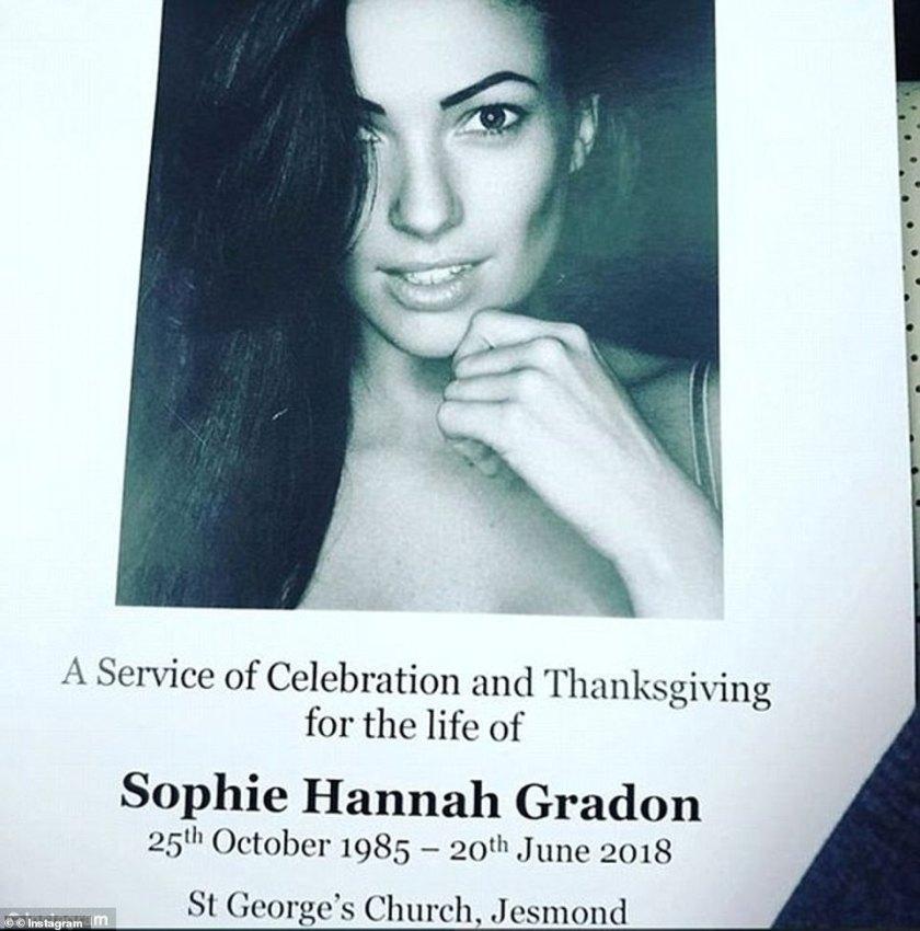 El funeral de Sophie se celebró en la iglesia de San Jorge, Jesmond. Publicando desde el día, su novio dijo que la amaba 'con todo mi corazón'