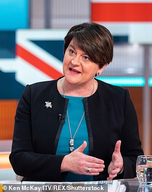 Downing Street is in talks with DUP MPs and its leader Arlene Foster (seen on Good Morning Britain on January 16) to persuade them to back her deal