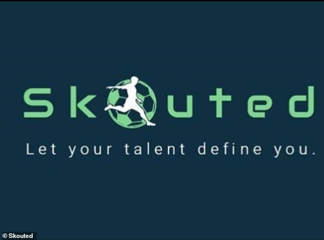 The Skouted logo and their slogan: 'Let your talent define you'. The app launches next month
