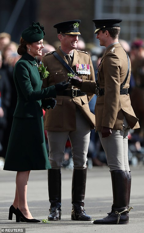 At past parades, the Duke has sipped on a traditional pint of Guinness in a nod to the tradition of the day however last year Kate, who was heavily pregnant with Prince Louis, opted for a sparkling water instead