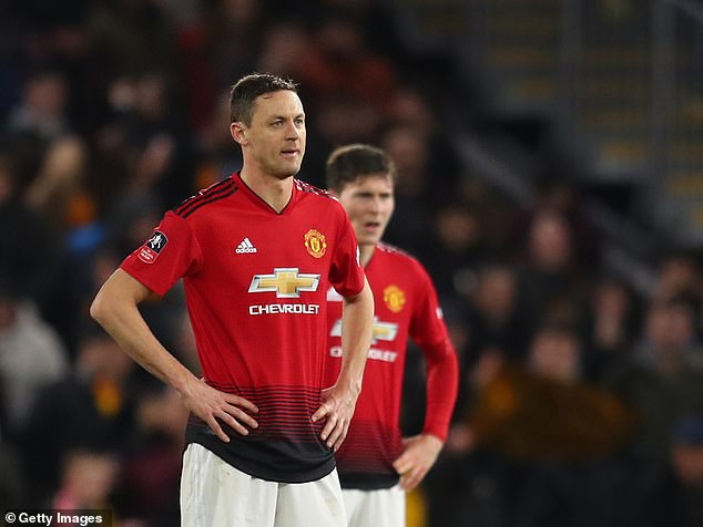 Nemanja Matic pictured after United's 2-1 quarter-final loss in the Black County on Saturday