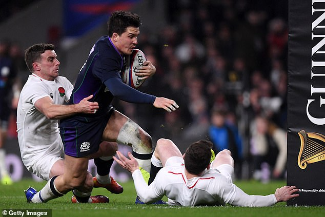 Sam Johnson wins try of the championship for his score against England on the final day