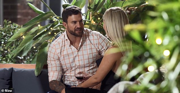 Romantic:The pair, who are 'cheating' on their partners, this week hatched a plan to stay together and stay on the show. Pictured on Married on First Sight
