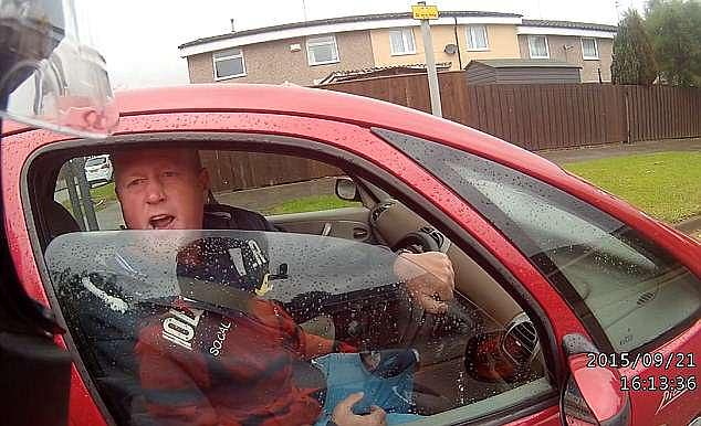 Pickering berates the moped rider before asking the motorcyclist whether he knew who he was. When the man fails to respond Pickering informs him: 'I'm Ronnie Pickering'