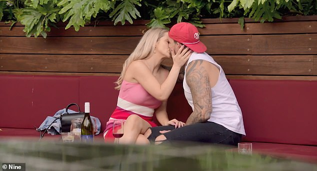 So loved up! Jessika and Dan (pictured on Married at First Sight) concealed their romance from the other contestants for weeks