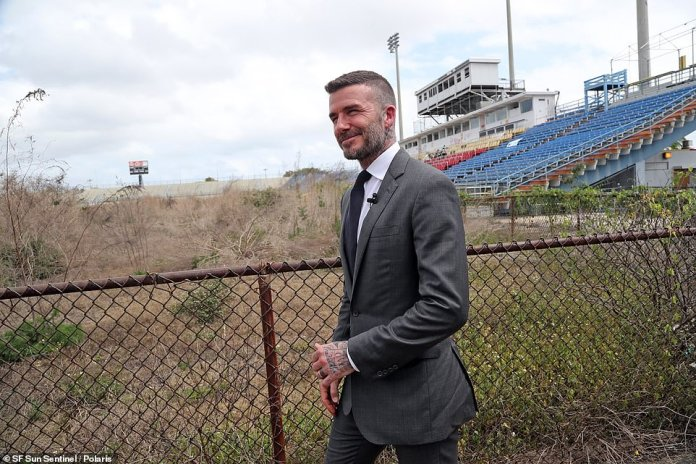 David Beckham has inspected the Lockhart Stadium in Fort Lauderdale which will become the temporary home of Inter Miami
