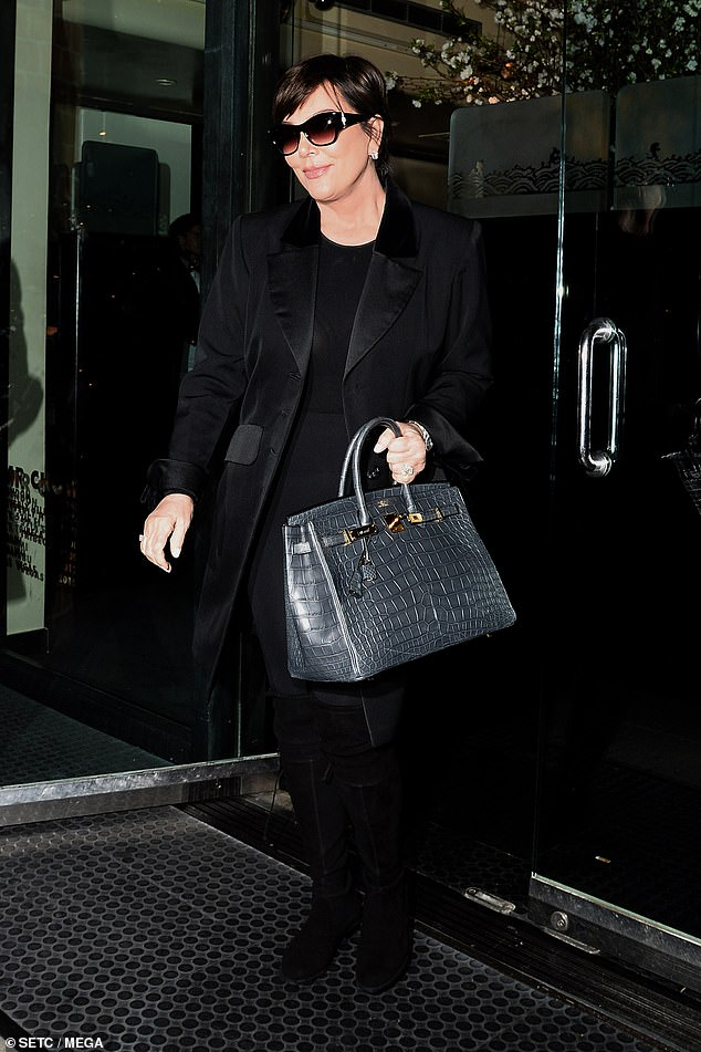 It's party time! Kris Jenner looked flawless in an all-black ensemble as she attended her friend Kathy Hilton's 60th birthday bash, in California on Wednesday