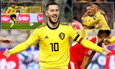 Belgium 3-1 Russia: Eden Hazard bags brace as Martinez's men win
