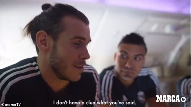 A bemused Bale was honest in his response, admitted he didn't have a clue what was asked