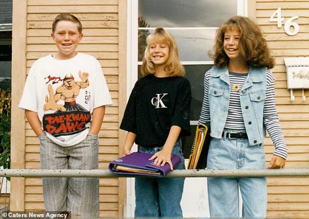 Jared (pictured when he was 15 in 1995) said he always knew something was wrong with him