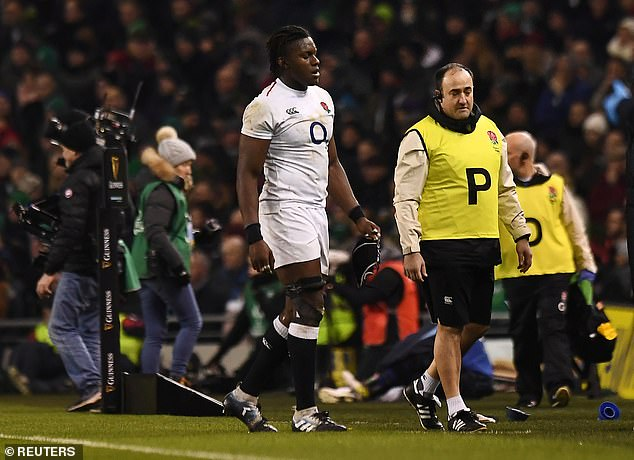 The forward suffered a knee injury in England's opening Six Nations match against Ireland