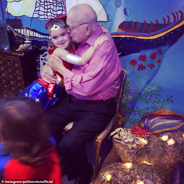 'Hope we're around for her 17th!' Patti Newton, 74, shares poignant message with adorable snap of husband Bert at granddaughter Lola's birthday party