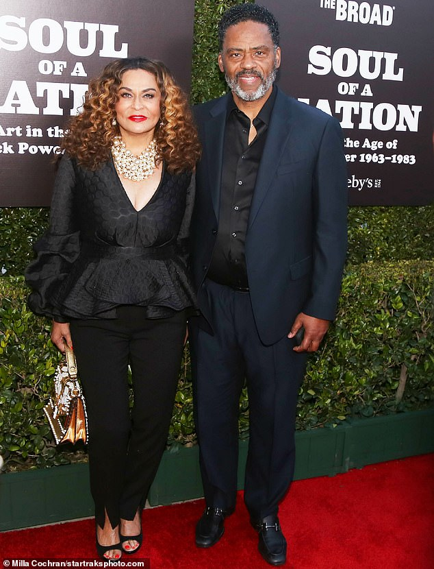 New love: Tina was accompanied by her husband, actor Richard Lawson, 72. The couple started dating in 2013, following her 2011 divorce from Matthew Knowles. They married in 2015