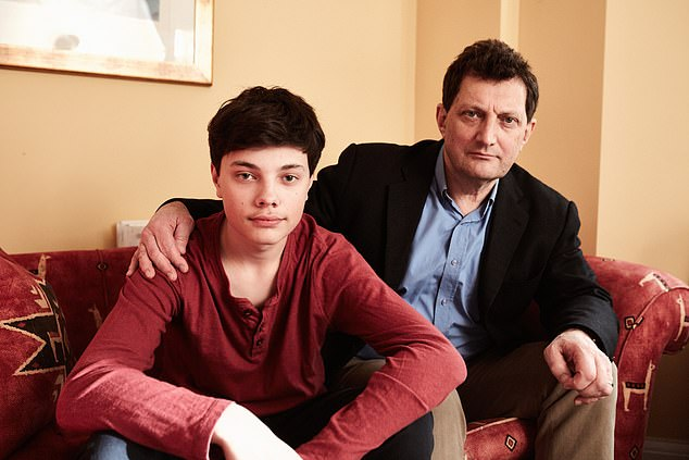 David Rose, right, campaigned for boys to receive the HPV vaccine to help protect them from and increasingly common form of cancer. However, his son Daniel, left, is too old for the Government vaccination scheme so his family will pay the £450 to protect him privately