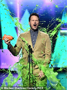 Chris Pratt gets slimed as he accepts his Favorite Butt Kicker award