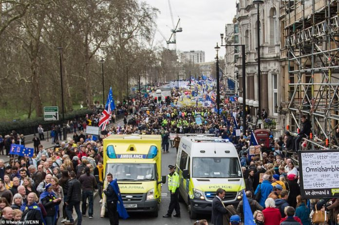The exact number of people at the march has yet to be determined but photos show large crowds and organisers are confident the final number will be more than 700,000
