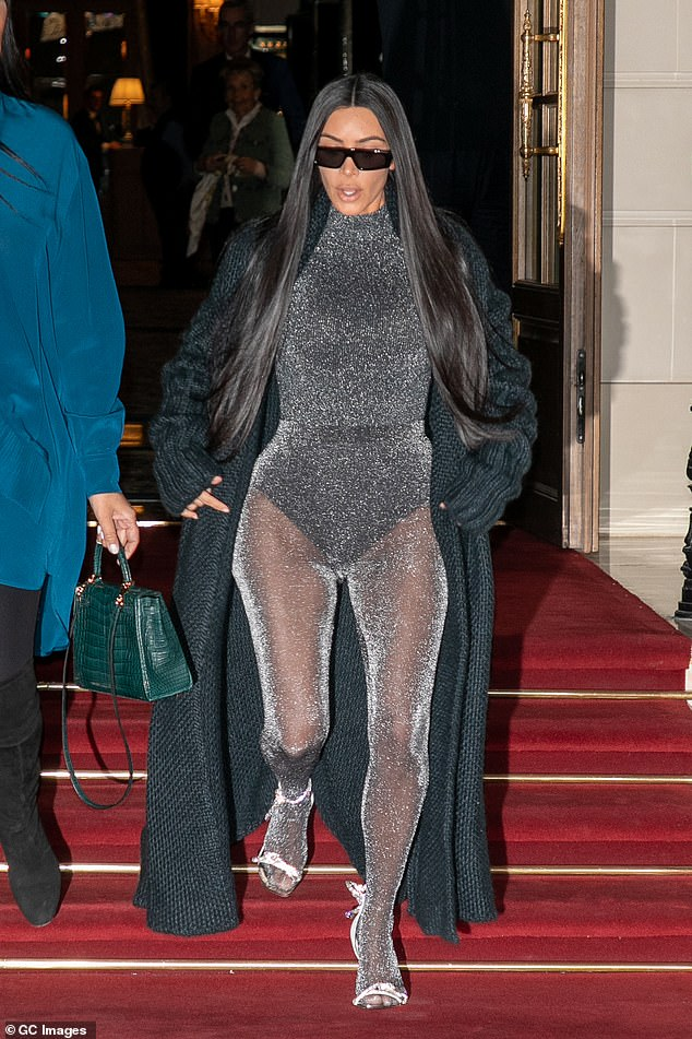 Busy Bees: DK Kardashian was successful with the ugly people having no rest while going out for dinner at Ferdi's upscale restaurant in Paris on Monday evening