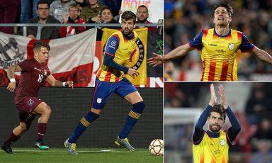 Gerard Pique stars as Catalonia beat Venezuela