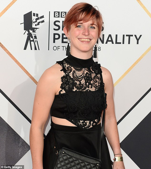 'Having a vagina means having pain,' Ms Dines (pictured at the BBC Sports Personality of the Year Awards last year) said. She revealed the lipoma on one side of her vulva, which caused 'huge swelling', lasted for five years before she had it removed