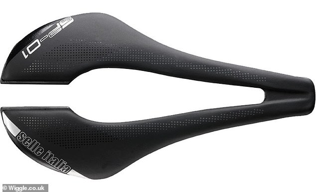 Some women's bike saddles are developed to have a gap in the middle to divert pressure to areas around the vulva and reduce discomfort, but Ms Dines said leaning forward in a racing pose makes it difficult to avoid increasing pressure on the genitals